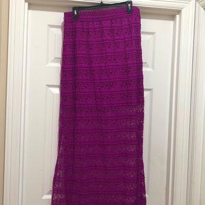 NWOT No Boundaries Lace Magenta Color Skirt SizeXL